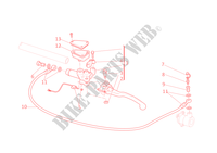 MAITRE CYLINDRE D'EMBRAYAGE pour Ducati Multistrada 1100 S 2008