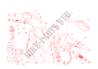 GUIDON ET COMMODOS pour Ducati Multistrada 1200 ABS 2011