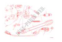 BEQUILLE LATERALE pour Ducati Monster 1200 S 2015