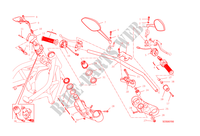 GUIDON ET COMMODOS pour Ducati Monster 1200 S 2015
