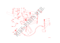 MAITRE CYLINDRE D'EMBRAYAGE pour Ducati Monster 1100 EVO 2011